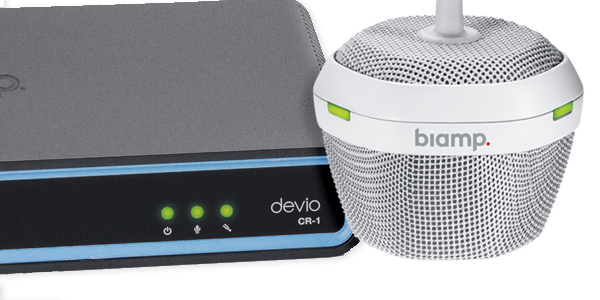 Biamp Devio with Microphone AV Huddle Spaces